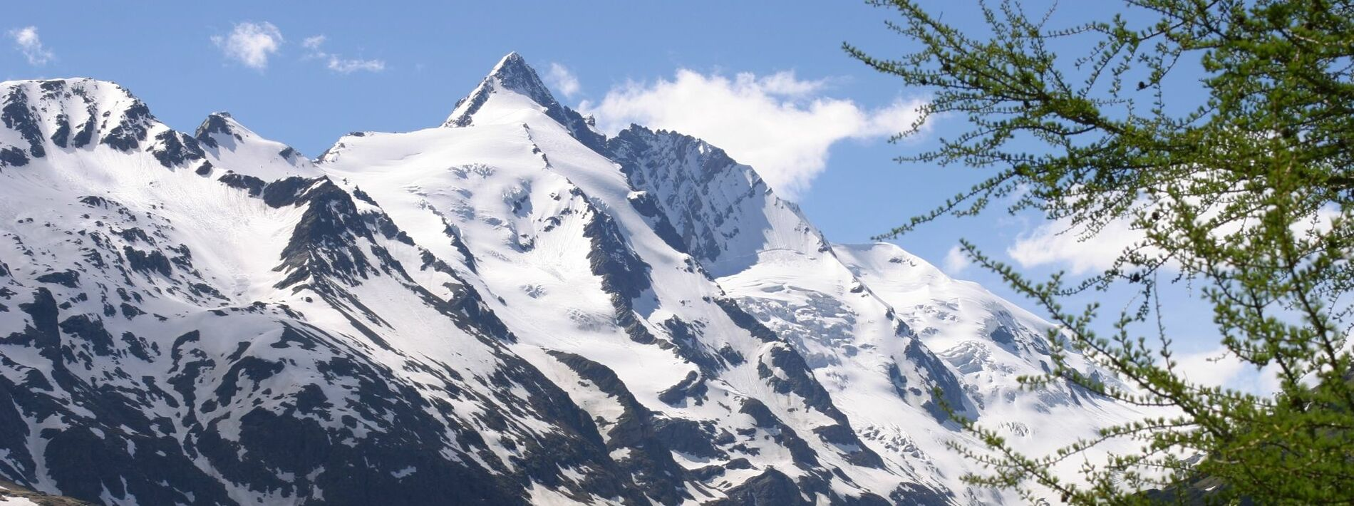 View of the Großglockner in the national park Hohe Tauern